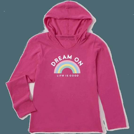 Girl's Dream On Rainbow Girls Hooded Smooth Tee