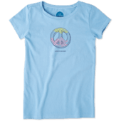 Girls Engraved Peace Sign Crusher Tee