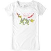 Girl's Flaming Awesome Girl's Crusher Tee