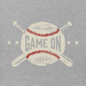 Girls Game On Baseball Crusher Tee