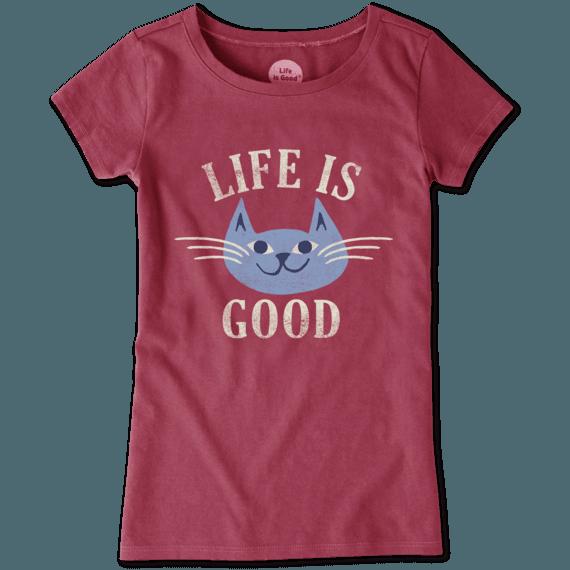 Girls Happy Cat Crusher Tee
