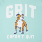 Girls Grit Doesn't Quit Crusher Tee