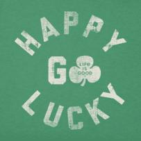 Girls Happy Go Lucky Crusher Tee