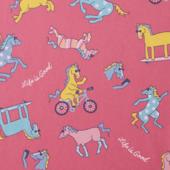 Girls Happy Horse Print Crusher Tee