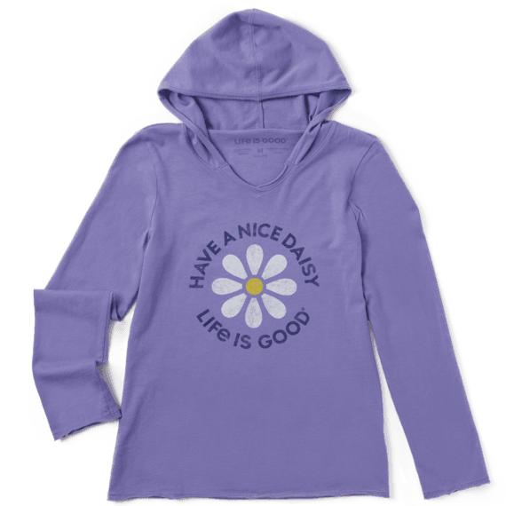Girl's Have A Nice Daisy Girls Hooded Smooth Tee