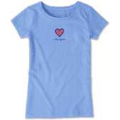 Girls Heart Vintage Crusher Tee