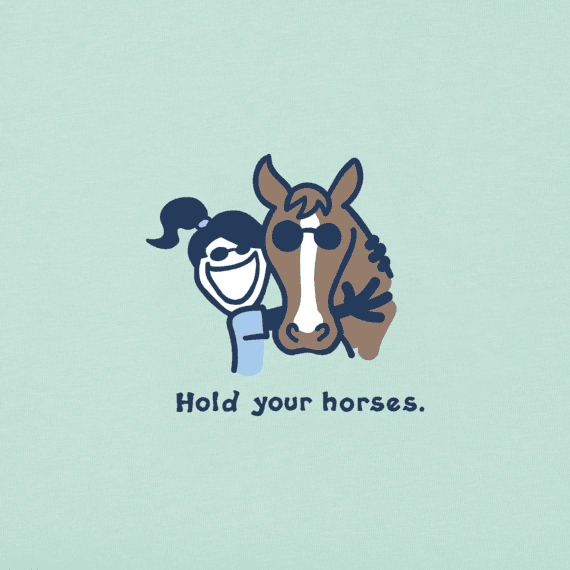 Girls Hold Your Horses Jackie Vintage Crusher Tee