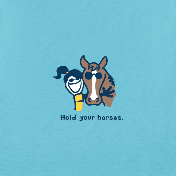 Girls Hold Your Horses Vintage Crusher Tee