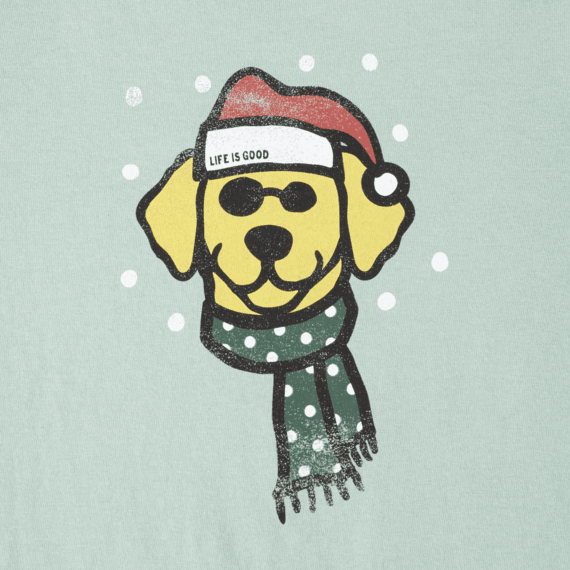 Girls Holiday Dog Long Sleeve Crusher Tee