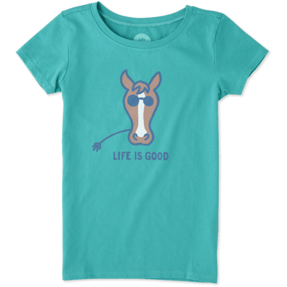 Girls Horse Crusher Tee