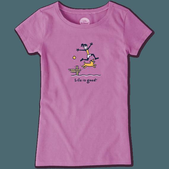 Girls Jackie Dock Jump Vintage Crusher Tee