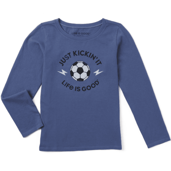 Girls LIG Just Kickin' It Long Sleeve Crusher Tee
