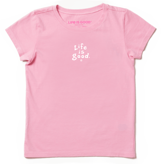 Girls LIG Vintage Wordmark Stacked Crusher Tee