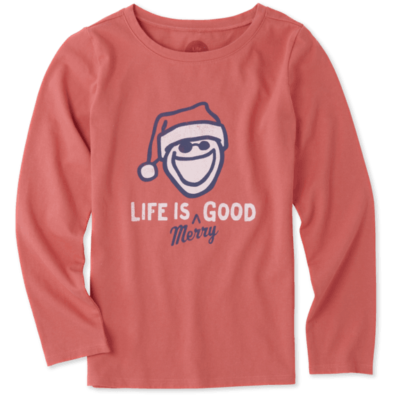 Girls Life Is Merry Good Long Sleeve Crusher Tee
