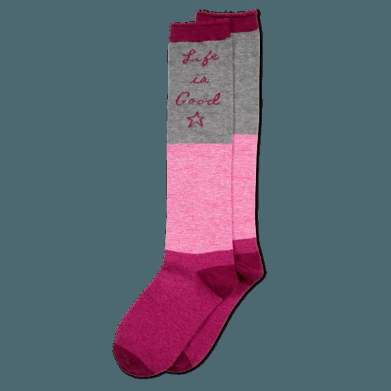 de1bd8bc243a Sale Girls Life is Good Knee High Socks