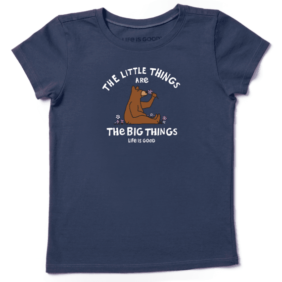 Girls Little Things Bear Crusher Tee