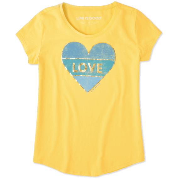 Girls Love Heart Smiling Smooth Tee