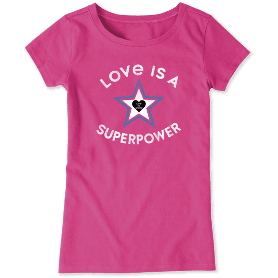 Girls Superpower Star Crusher Tee