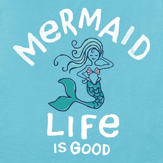 Girls Mermaid Life Is Good Crusher Tee