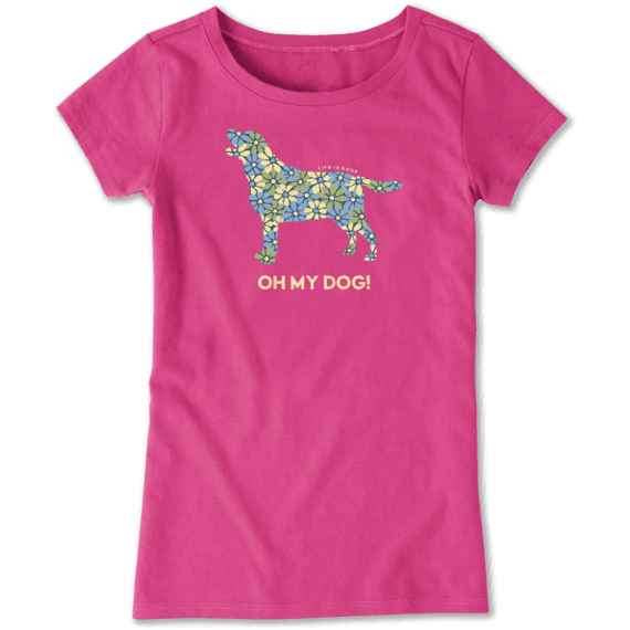 Girls Oh My Dog Crusher Tee