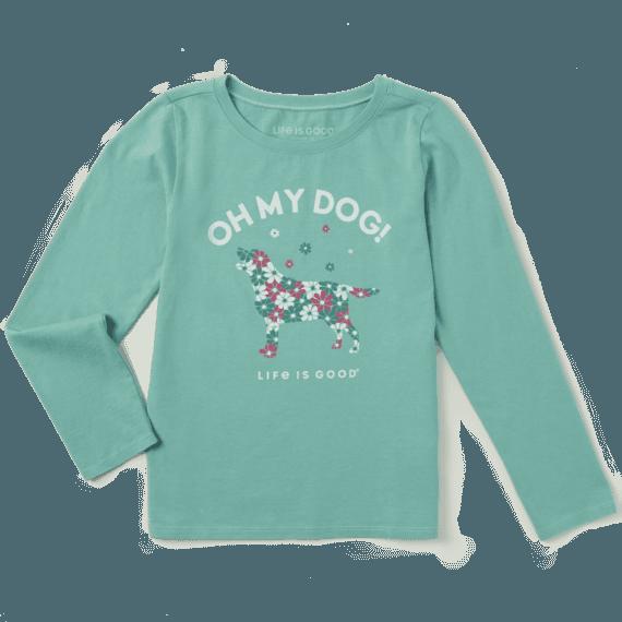 Girls Oh My Dog! Long Sleeve Crusher Tee