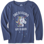 Girls One Of A Kind Long Sleeve Crusher Tee