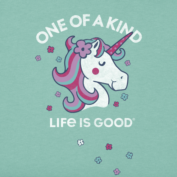 Girls One of a Kind Unicorn Crusher Tee