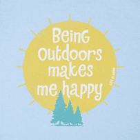 Girls Outdoors Makes Me Happy Crusher Tee