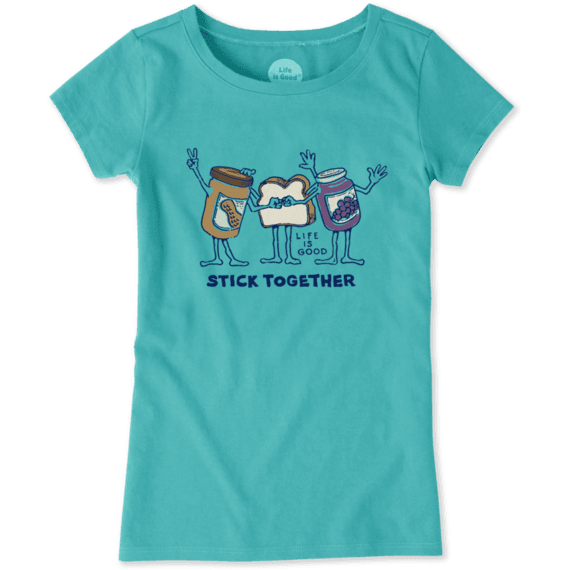 Girls PB&J Stick Together Crusher Tee