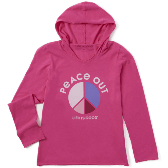 Girl's Peace Colorblock Girls Hooded Smooth Tee