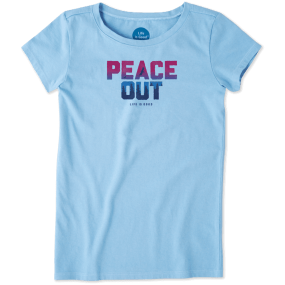 Girls Peace Out Crusher Tee