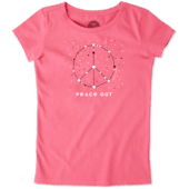 Girls Peace Out Universe Crusher Tee