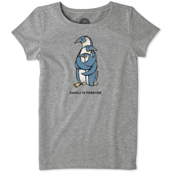 49ed551e Sale Girls Penguin Family Crusher Tee | Life is Good® Official Site