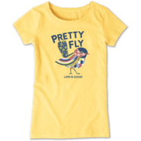 Girls Pretty Fly Crusher Tee