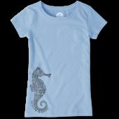 Girls Primal Seahorse Crusher Tee