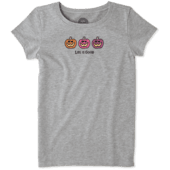 Girls Pumpkin Trio Crusher Tee