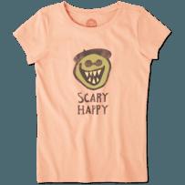 Girls Scary Happy Crusher Tee