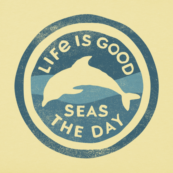 Girls Seas The Day Dolphin Crusher Tee