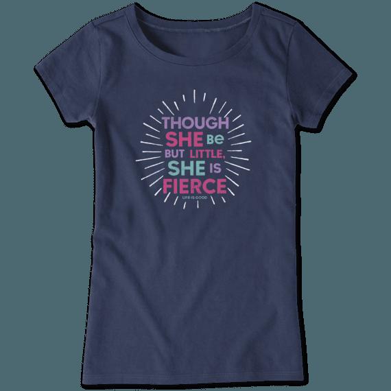 Girls Little & Fierce Crusher Tee
