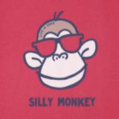 Girls Silly Monkey Crusher Tee