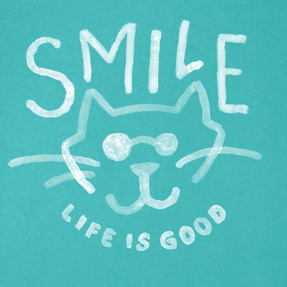 Girls Smile Cat Crusher Tee