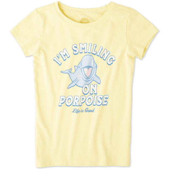 Girls Smiling On Purpoise Crusher Tee