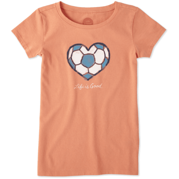 Girls Soccer Heart Crusher Tee