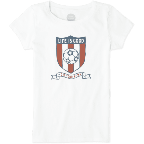 Girls Soccer Shield Crusher Tee