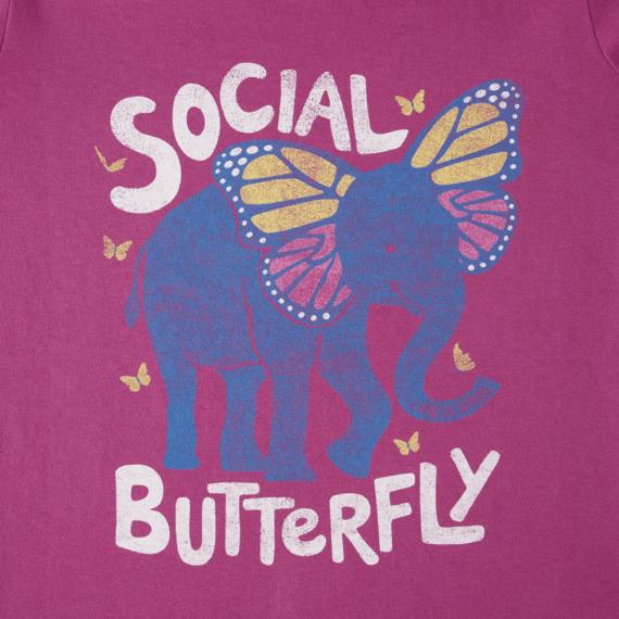 Girls Social Butterfly Crusher Tee