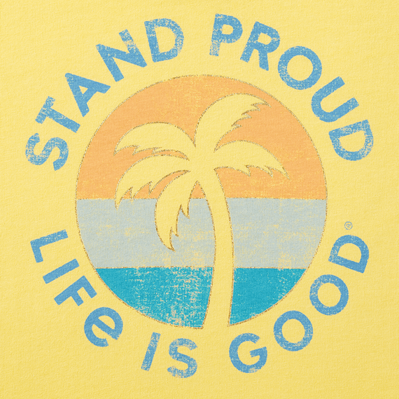 Girls Stand Proud Palm Smiling Smooth Tee