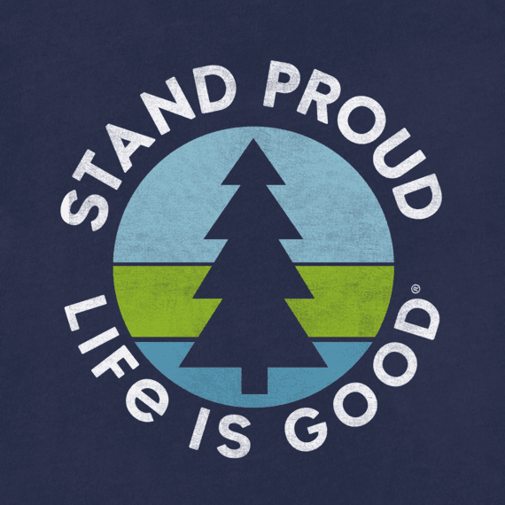 Girl's Stand Proud Pine Girls Hooded Smooth Tee