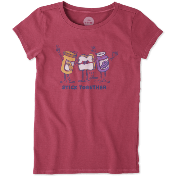 Girls Stick Together PB&J Crusher Tee