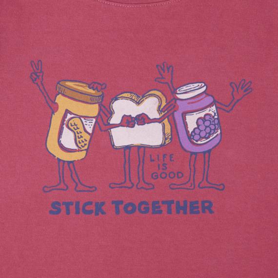 Girls Stick Together PB&J Crusher Tee