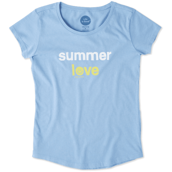 Girls Summer Love Smiling Smooth Tee